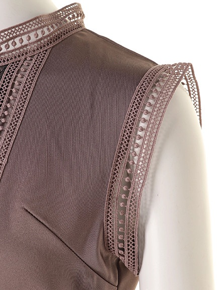 77beaaafb0a57 アシメスカートレイヤードドレス(オケージョン)(ロングワンピース ...