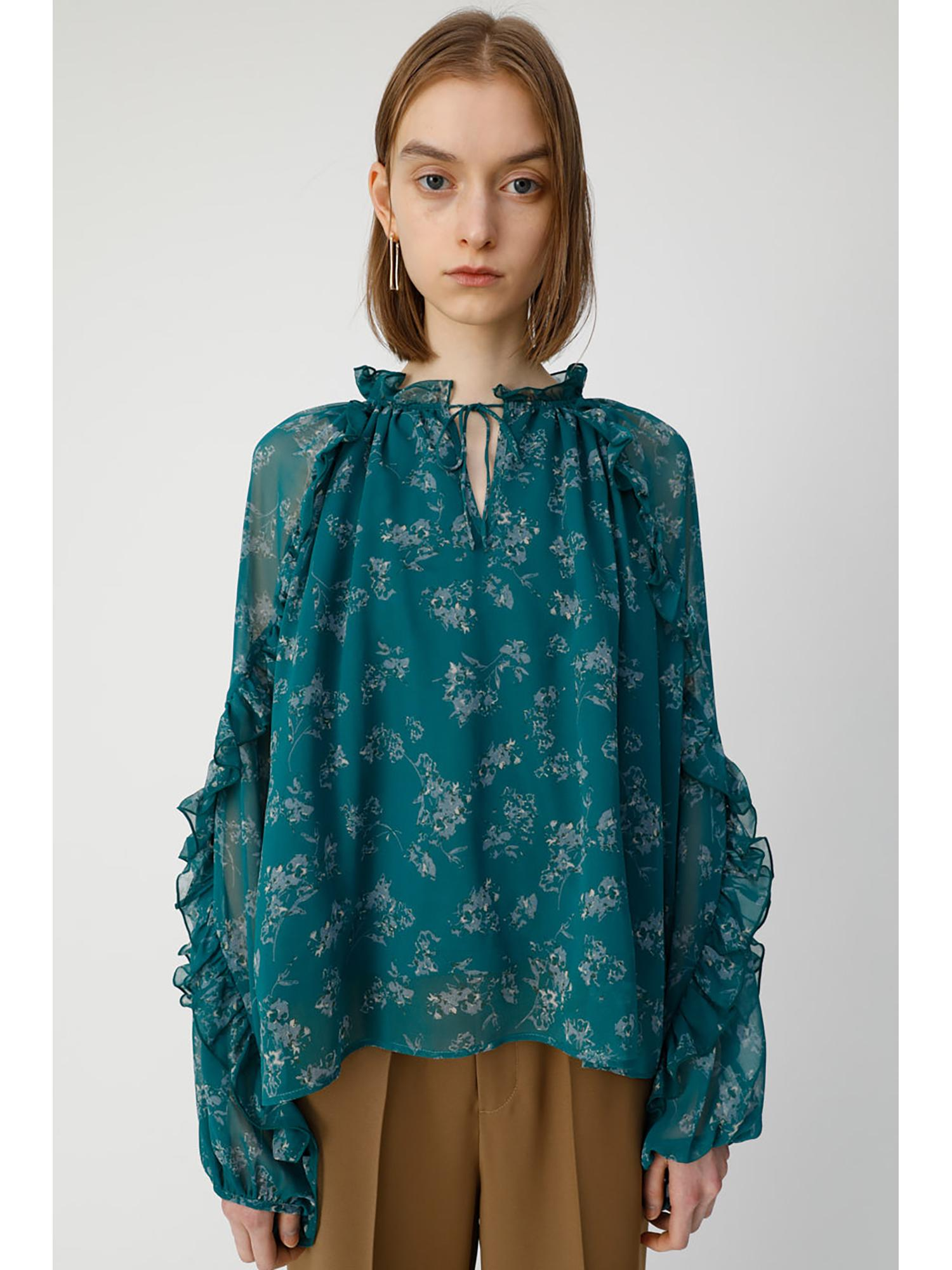 DENSE FLOWER BLOUSE