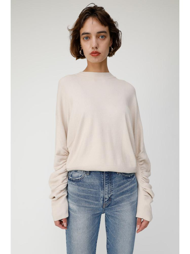 GATHER SLEEVE SWEATER