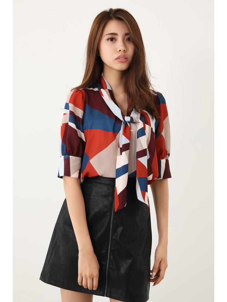 Geometry Scarf Bow Tie TOP