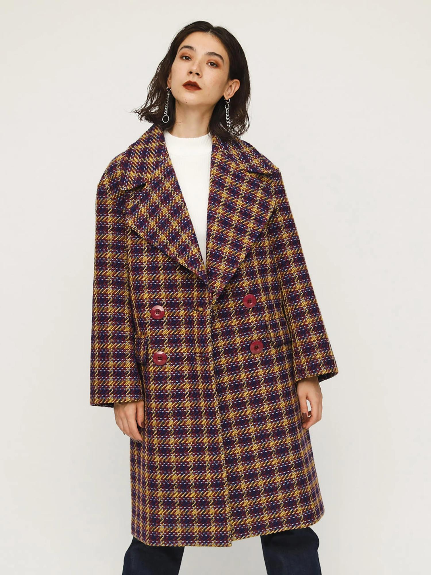 DOMMY CHECK COAT
