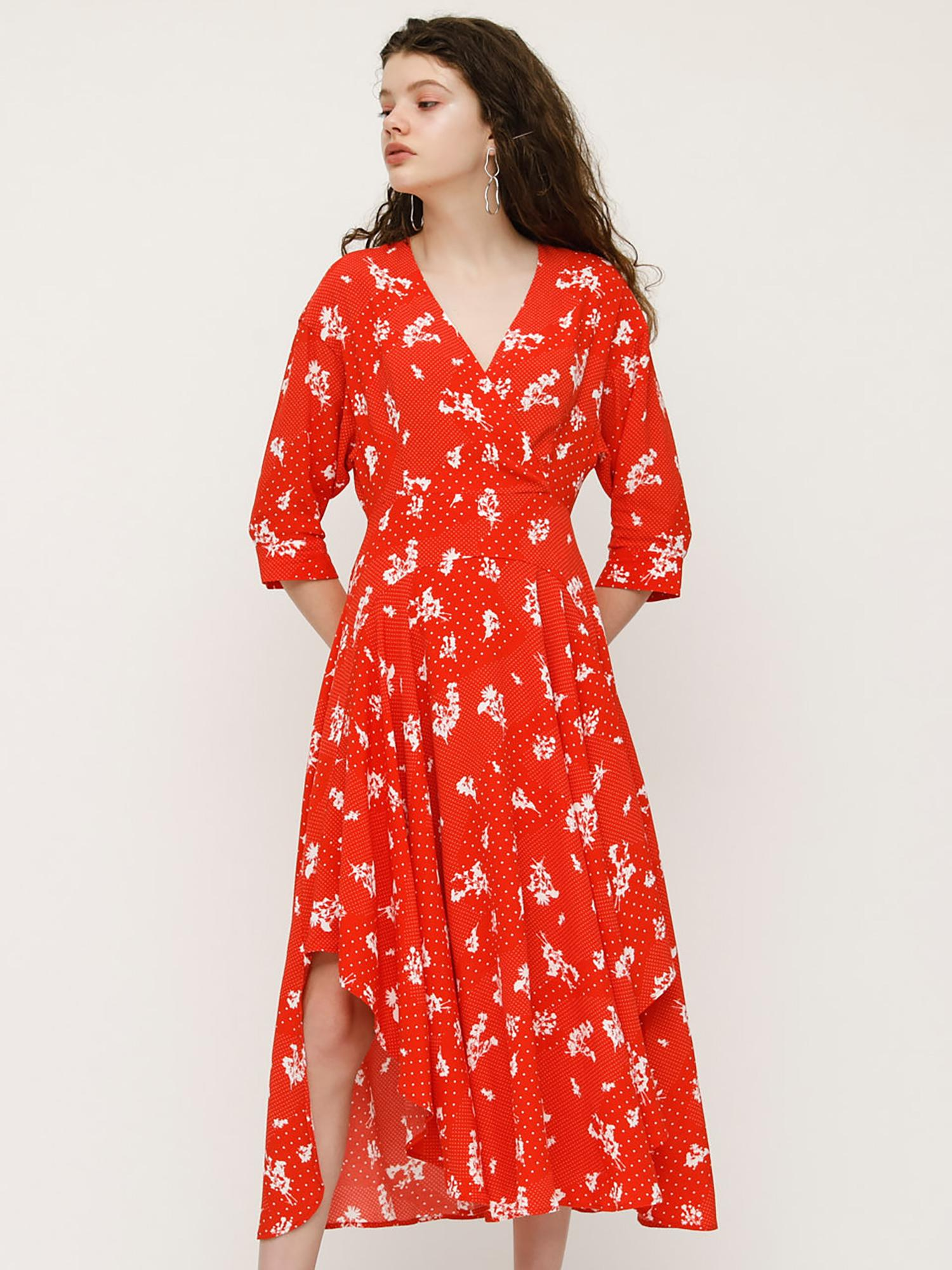 POSY WAY ROUND HEM DRESS