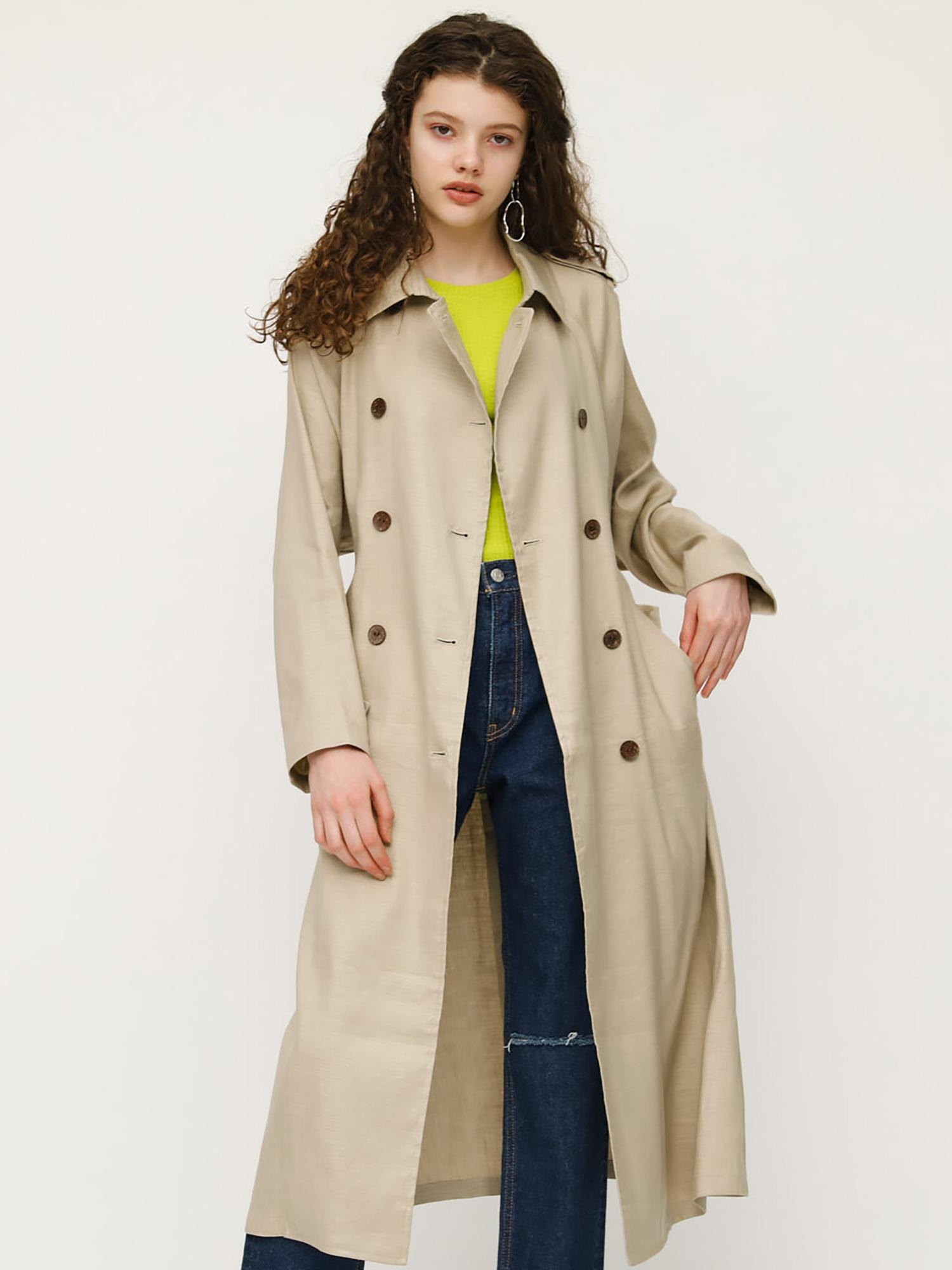 LINEN OVER TRENCH