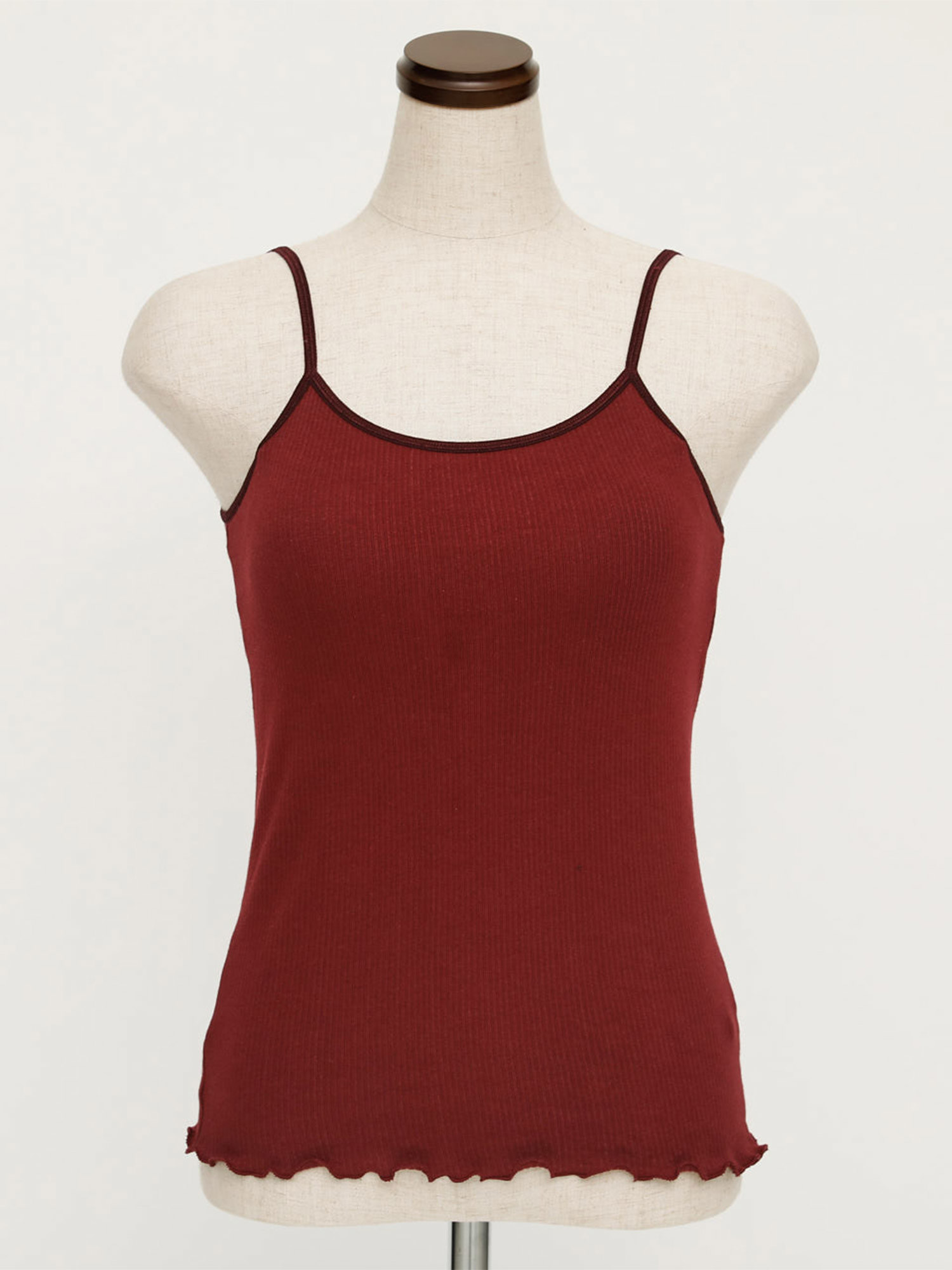 CUP IN BACK OPEN RIB CAMI