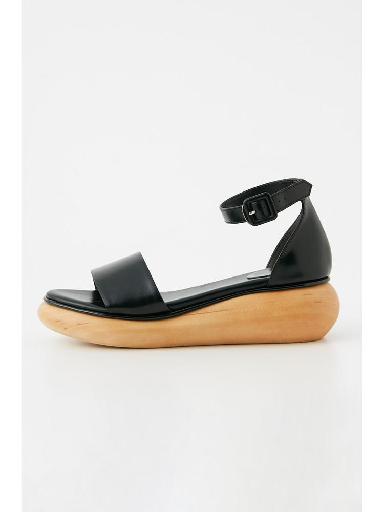WOOD WEDGE SANDAL