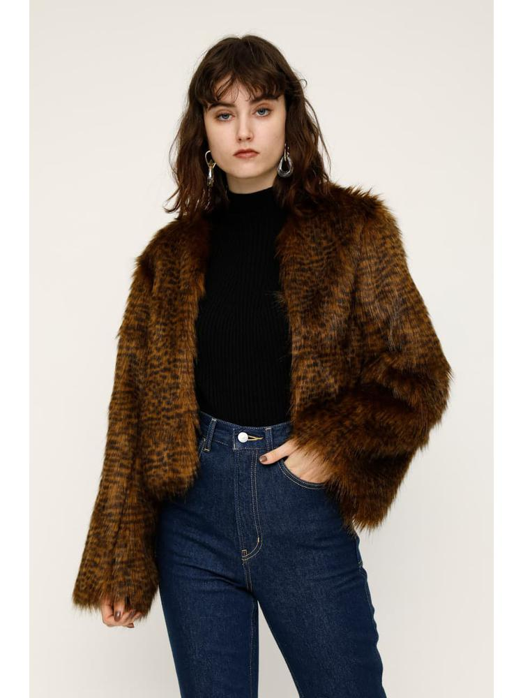 F/FUR OVER CROPPED COAT